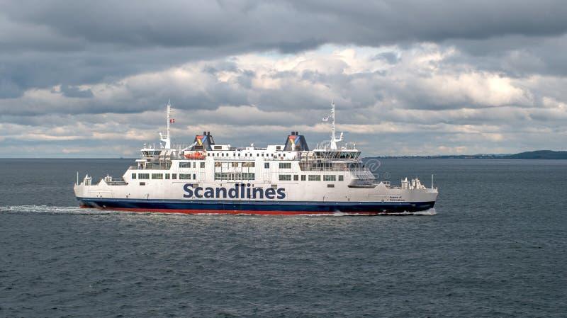 Helsingbog, Швеция - 9-ое октября 2016: Пассажирский паром на линии Хельсингборге - Helsingor, Дании стоковое изображение