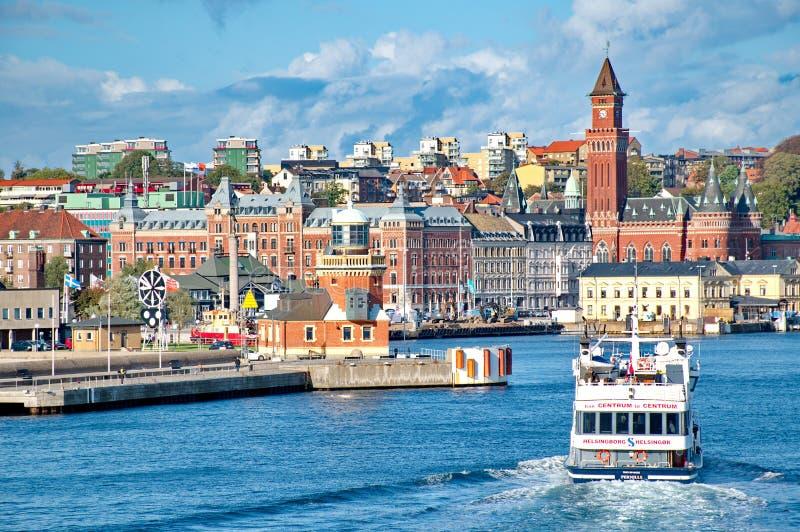 Helsingborg (Dänemark nach Schweden) lizenzfreie stockbilder