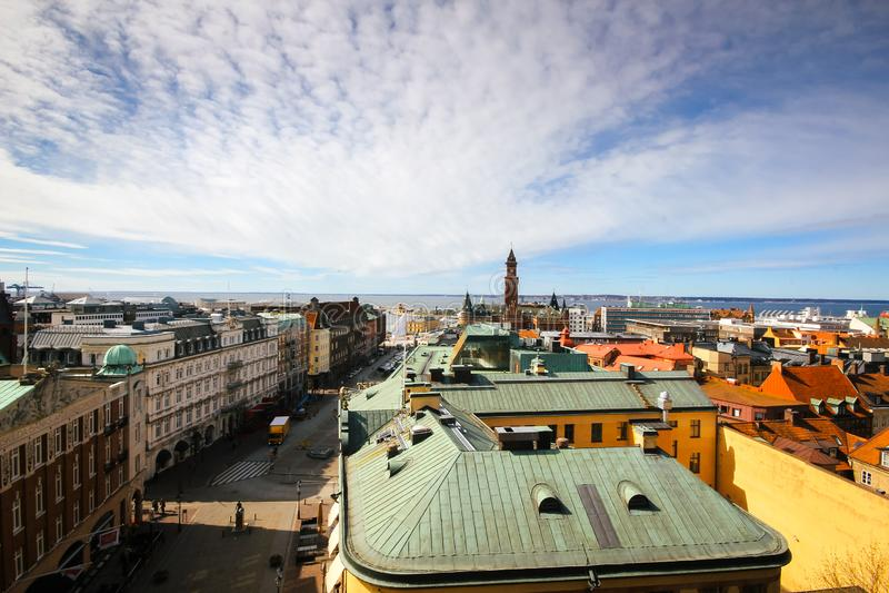 Helsingborg linia horyzontu zdjęcia stock