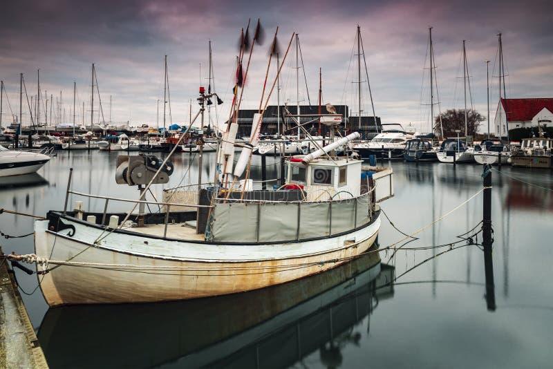 Helsingborg Raa fishing boat stock photography