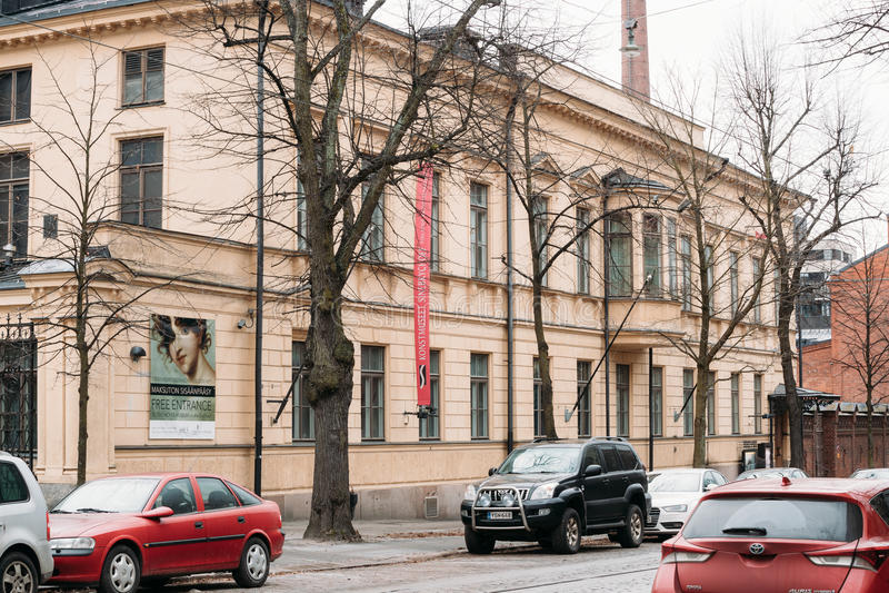 Helsingfors Finland Sinebrychoffen Art Museum är en konstmusem arkivbild