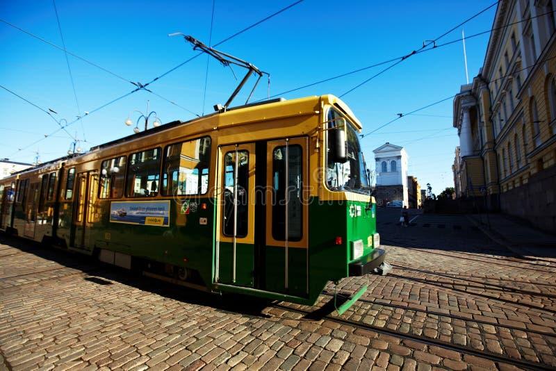 Helsingfors spårvagn arkivbild