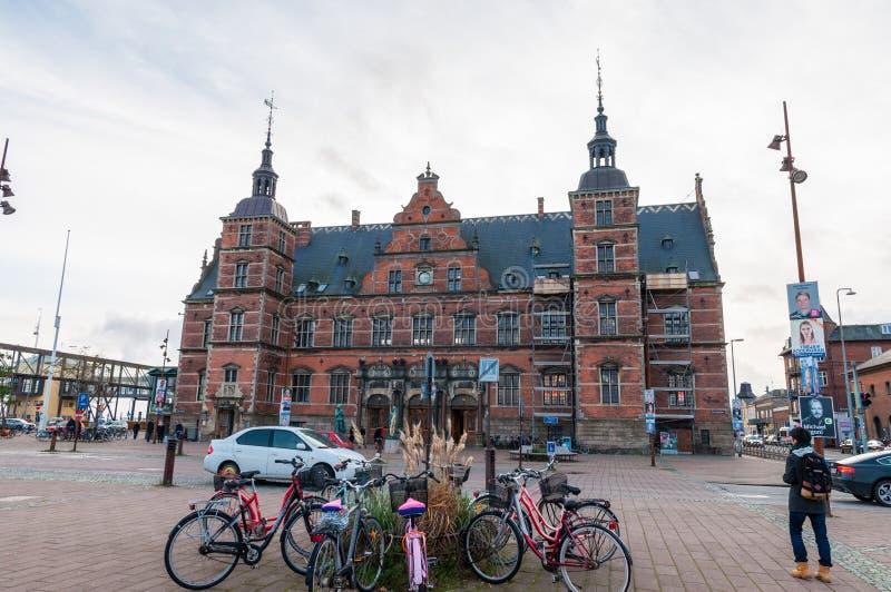 Helsingoer train station in Denmark royalty free stock photos