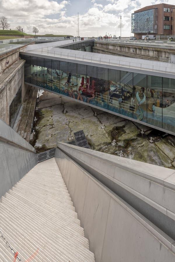Helsingor Morski muzeum przy Stromym schody zdjęcie royalty free