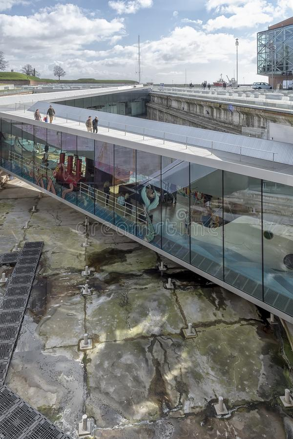 Helsingor Morski muzeum w Dani obrazy stock