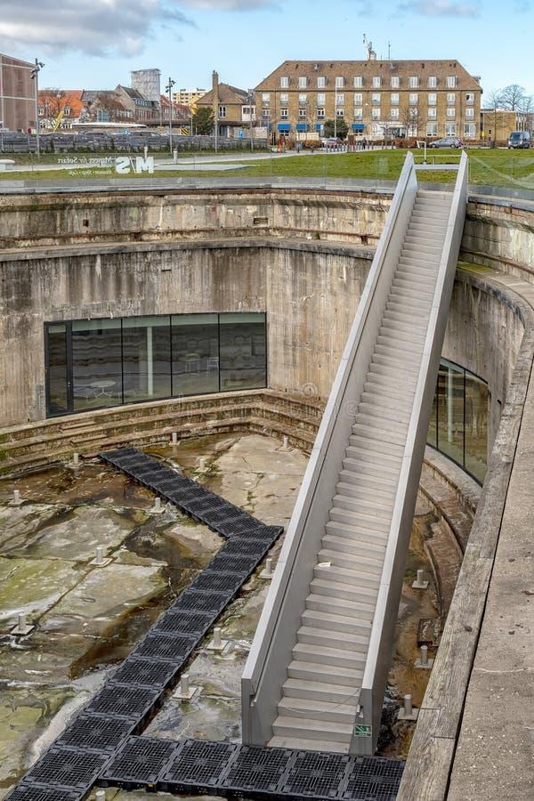 Helsingor Morskiego muzeum Stromy schody zdjęcie royalty free