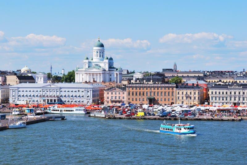 Helsinki, Ansicht vom Meer stockbilder