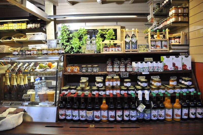 Helsinki,august 23 2014-Market stall from Helsinki in Finland stock photography