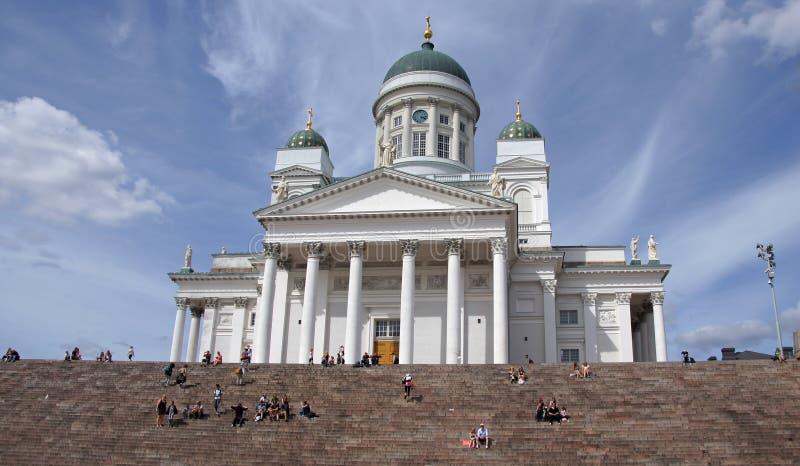 Helsinki bielu katedra zdjęcie stock