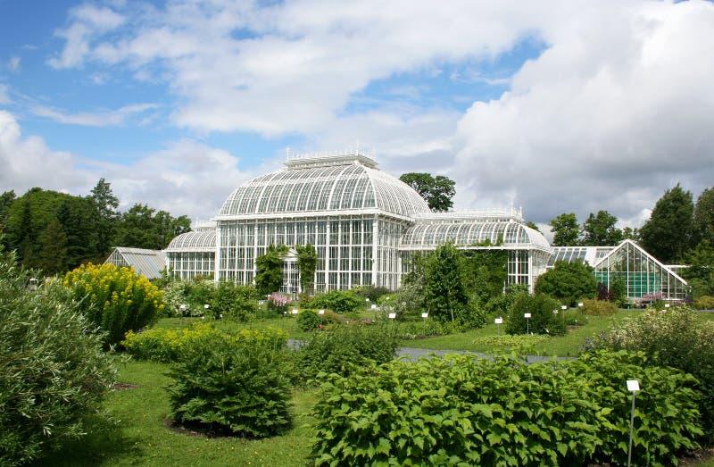 Helsinki botanical garden stock photo