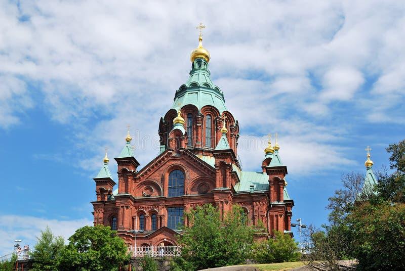 Helsinki. Catedral de la asunción fotografía de archivo libre de regalías