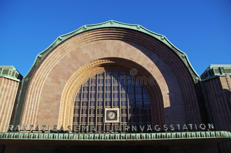 Helsinki central station, Finland royalty free stock photo