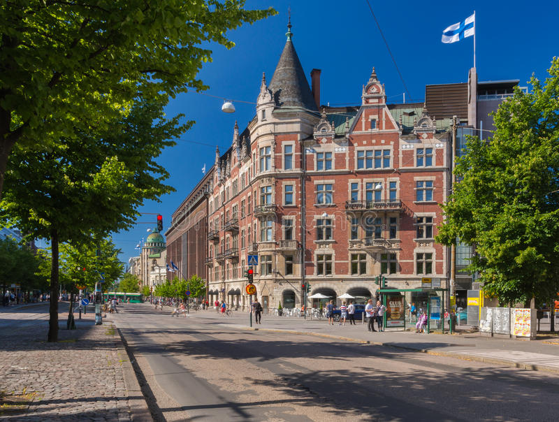 Helsinki centrale immagine stock