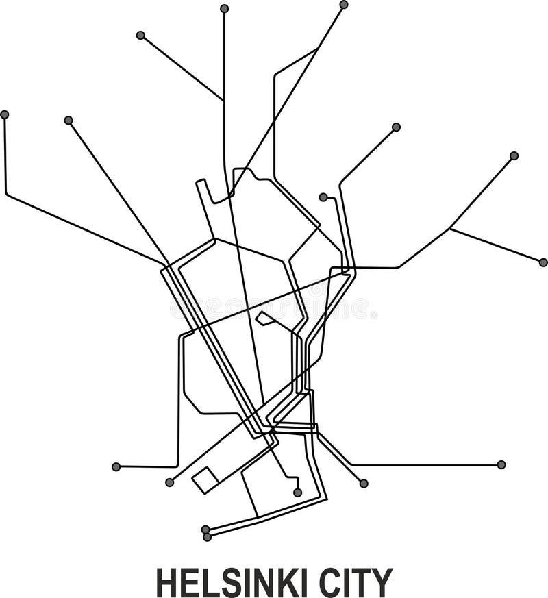 Riga Subway Map.Helsinki Map Stock Illustrations 657 Helsinki Map Stock