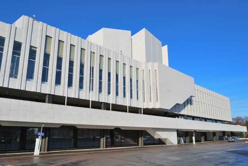Helsinki. De Zaal van Finlandia royalty-vrije stock foto's