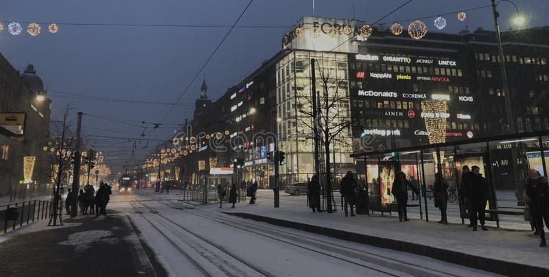 Helsinki en hiver photographie stock