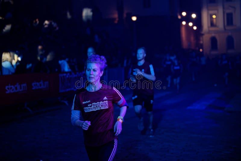 HELSINKI, FINLAND - August 30 2019: Helsinki Midnight Run 2019. City Festival royalty free stock photos