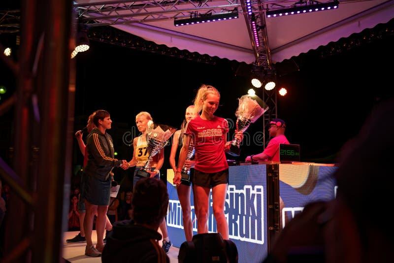 HELSINKI, FINLAND - August 30 2019: Helsinki Midnight Run 2019. City Festival royalty free stock images