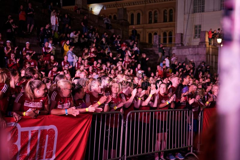 HELSINKI, FINLAND - August 30 2019: Helsinki Midnight Run 2019. City Festival royalty free stock photography