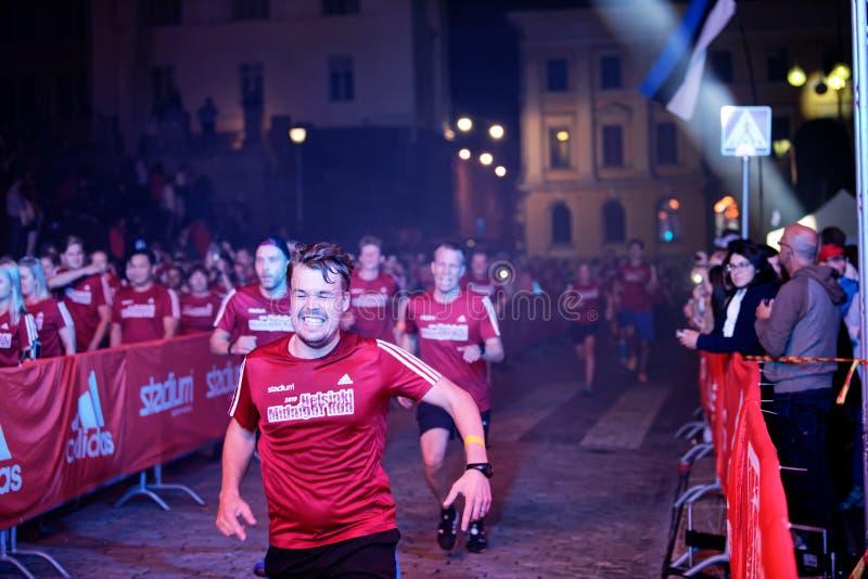 HELSINKI, FINLAND - August 30 2019: Helsinki Midnight Run 2019. City Festival stock photography