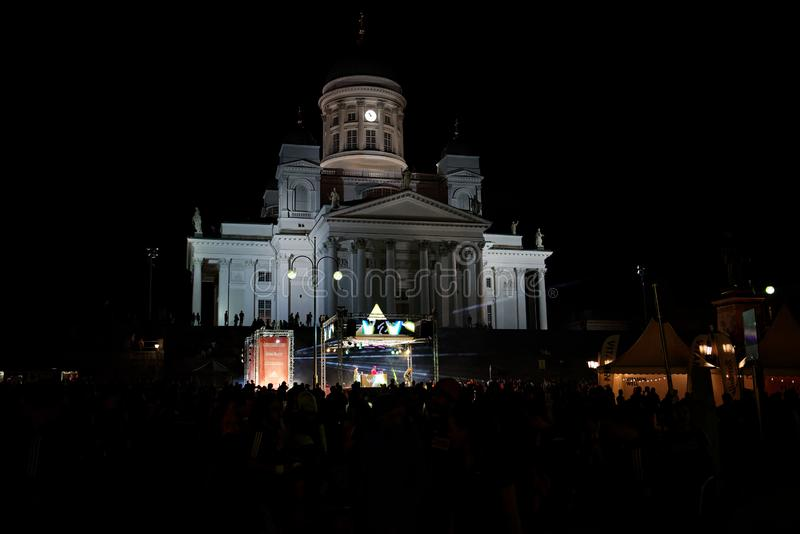 HELSINKI, FINLAND - August 30 2019: Helsinki Midnight Run 2019 Aniwersary Festival. HELSINKI, FINLAND - August 30 2019: Helsinki Midnight Run 2019 City Festival royalty free stock images