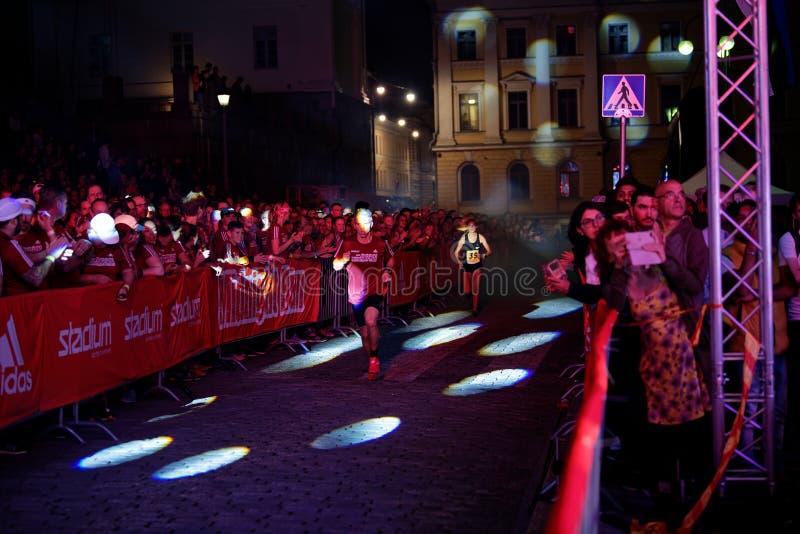 HELSINKI, FINLAND - August 30 2019: Helsinki Midnight Run 2019 Aniwersary Festival. HELSINKI, FINLAND - August 30 2019: Helsinki Midnight Run 2019 City Festival stock photography
