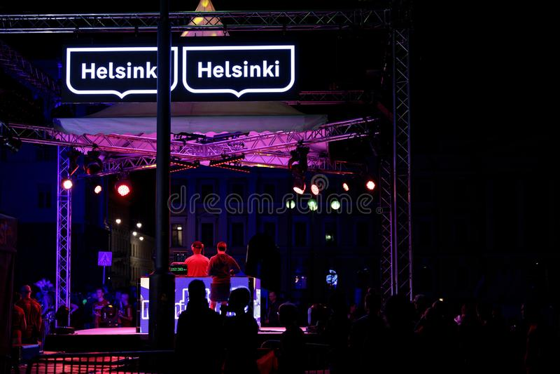 HELSINKI, FINLAND - August 30 2019: Helsinki Midnight Run 2019. City Festival royalty free stock image
