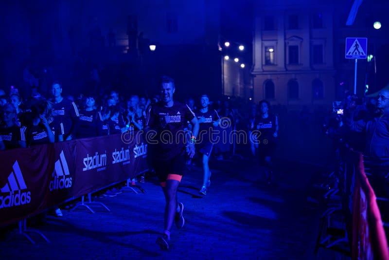 HELSINKI, FINLAND - August 30 2019: Helsinki Midnight Run 2019. City Festival stock photo