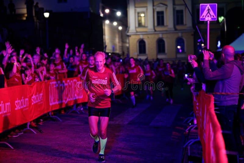 HELSINKI, FINLAND - August 30 2019: Helsinki Midnight Run 2019. City Festival stock image