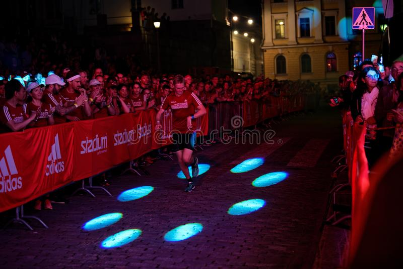 HELSINKI, FINLAND - August 30 2019: Helsinki Midnight Run 2019. City Festival royalty free stock photo