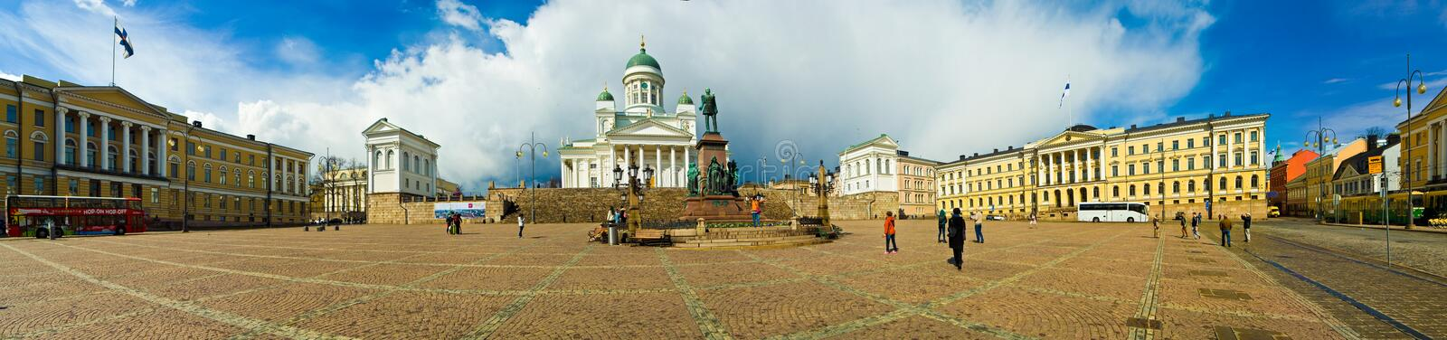 Helsinki, Finland. Helsinki Cathedral and Senate Square, Helsinki, Finland stock photography