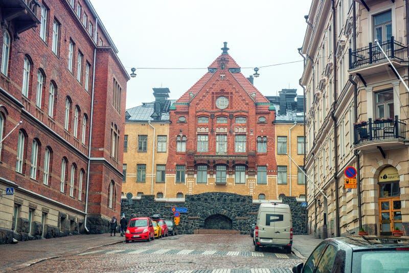 HELSINKI, FINLAND - JANUARI 28, 2017: Stadslandschap royalty-vrije stock foto's