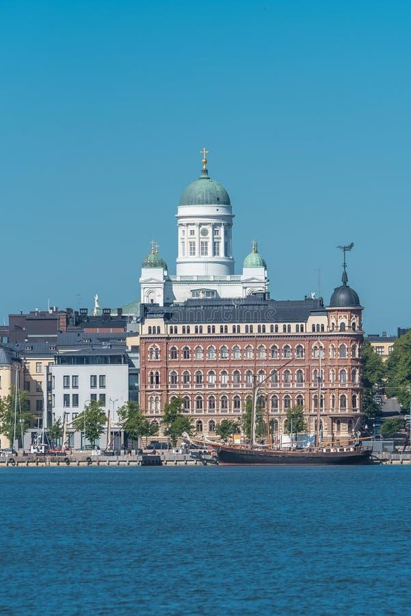 Helsinki in Finland, panorama stock afbeelding