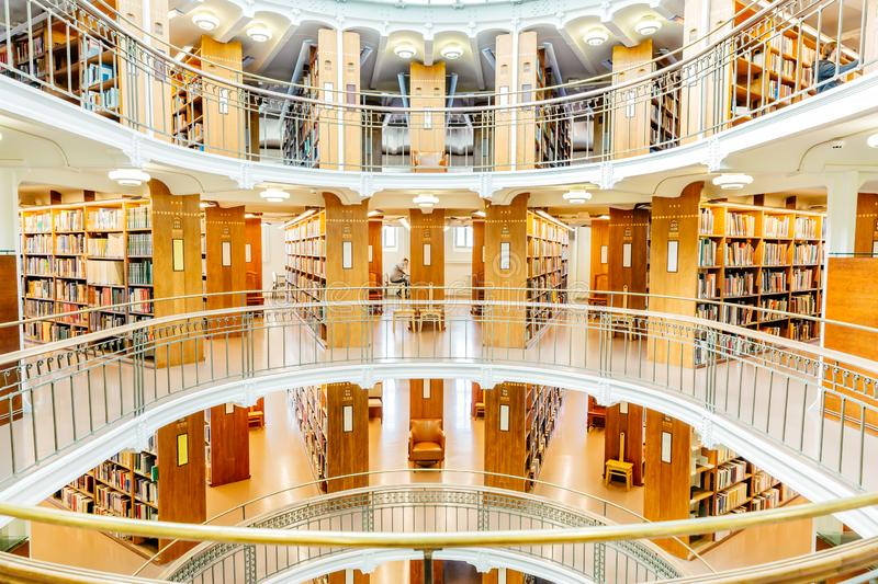 National Library of Finland helsinki. interior view stock photos