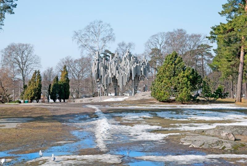 helsinki finland Sibeliuspark royalty-vrije stock foto