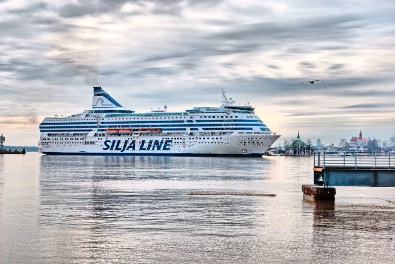 helsinki finland Silja Line Ferry arkivfoto