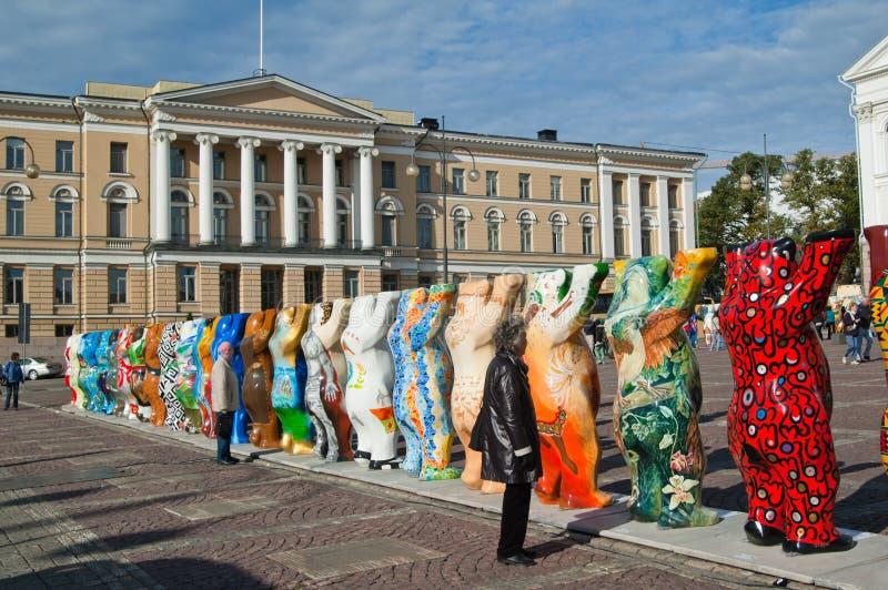 HELSINKI, FINLAND - United Buddy Bears exhibition royalty free stock photos