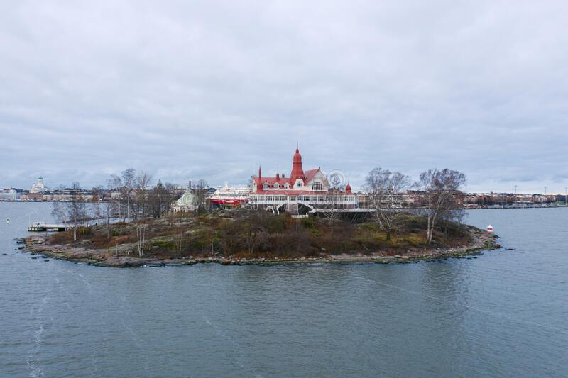 Helsinki, Finland. View Of Luoto Island in autumn day.  stock images