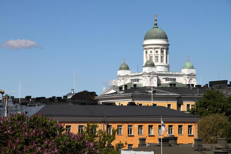 Helsinki, Finlandia, Europa (cattedrale di Helsinki) fotografia stock libera da diritti