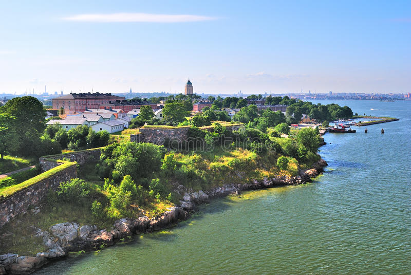 Helsinki, Finnland. Festung Suomenlinna stockfoto