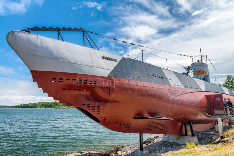 HELSINKI, FINNLAND - 4. JULI 2017: Unterwassermuseum Vesikko in SU stockbild