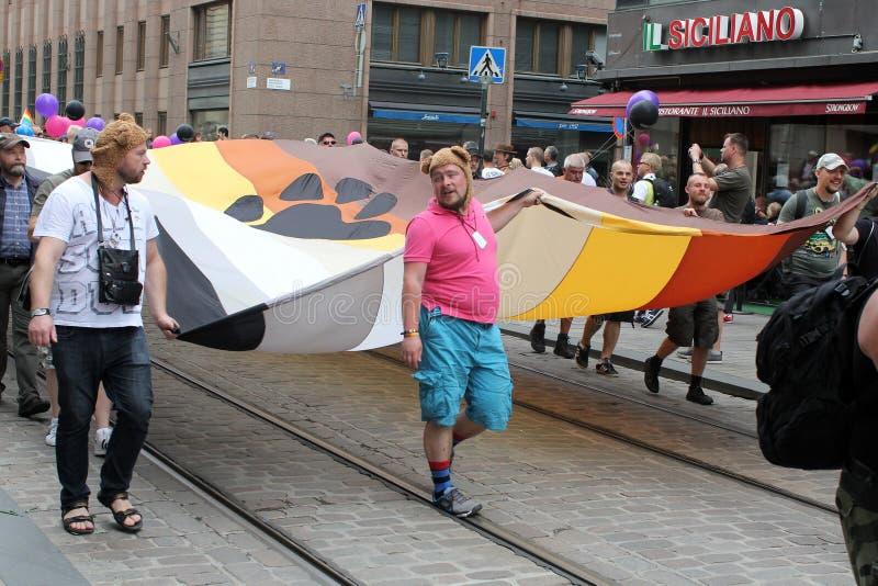 Helsinki, Finnland, am 29. Juni 2013. Während der homosexuellen Parade lizenzfreie stockfotos