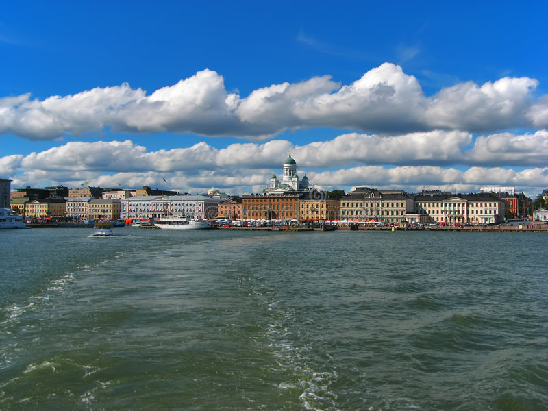 Helsinki, historisch centrum stock fotografie