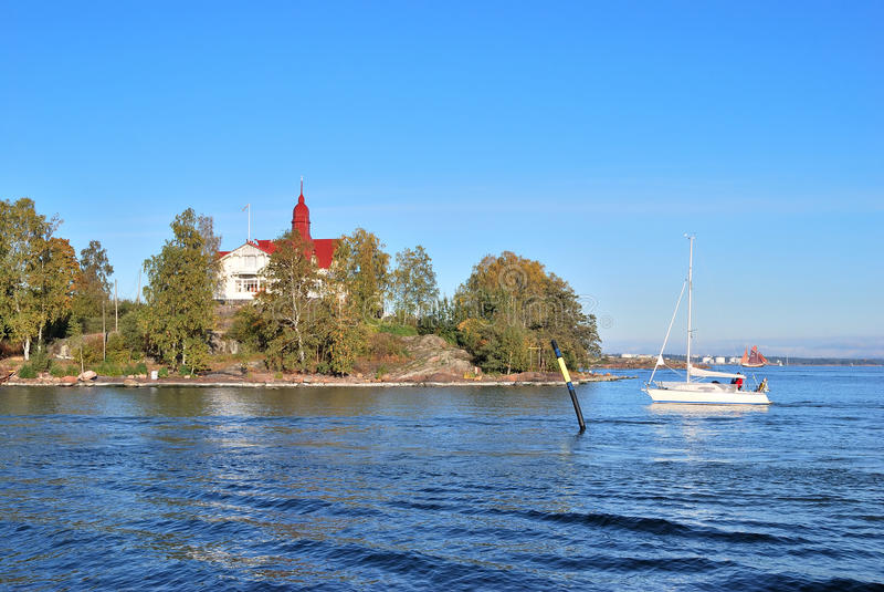 Helsinki, Insel Luoto lizenzfreies stockfoto
