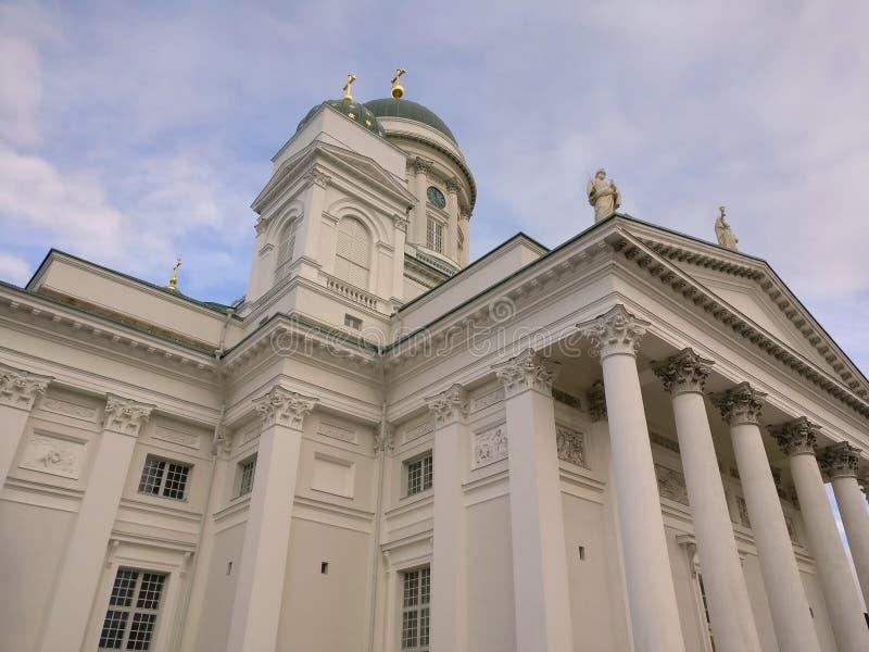 Helsinki katedra w jesieni fotografia royalty free