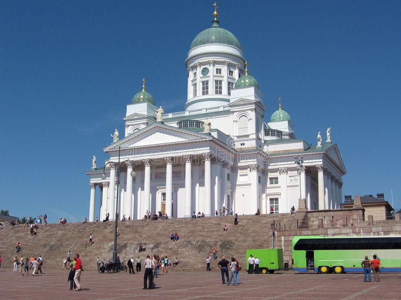 Helsinki katedralny lutheran obrazy royalty free