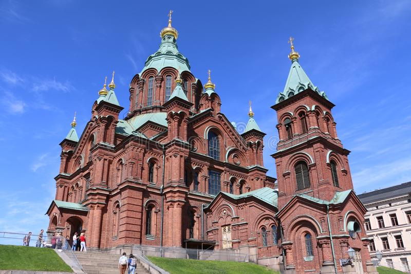 helsinki katedralny uspenski zdjęcie royalty free