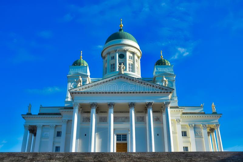Helsinki-Kathedrale, Abschluss oben, Finnland stockfoto