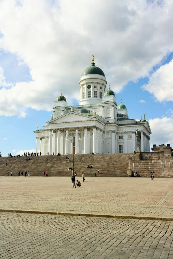 Helsinki-Kathedrale, Finnland stockfoto