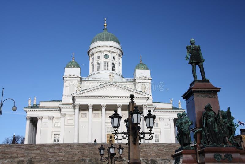 Helsinki-Kathedrale, Finnland lizenzfreie stockbilder